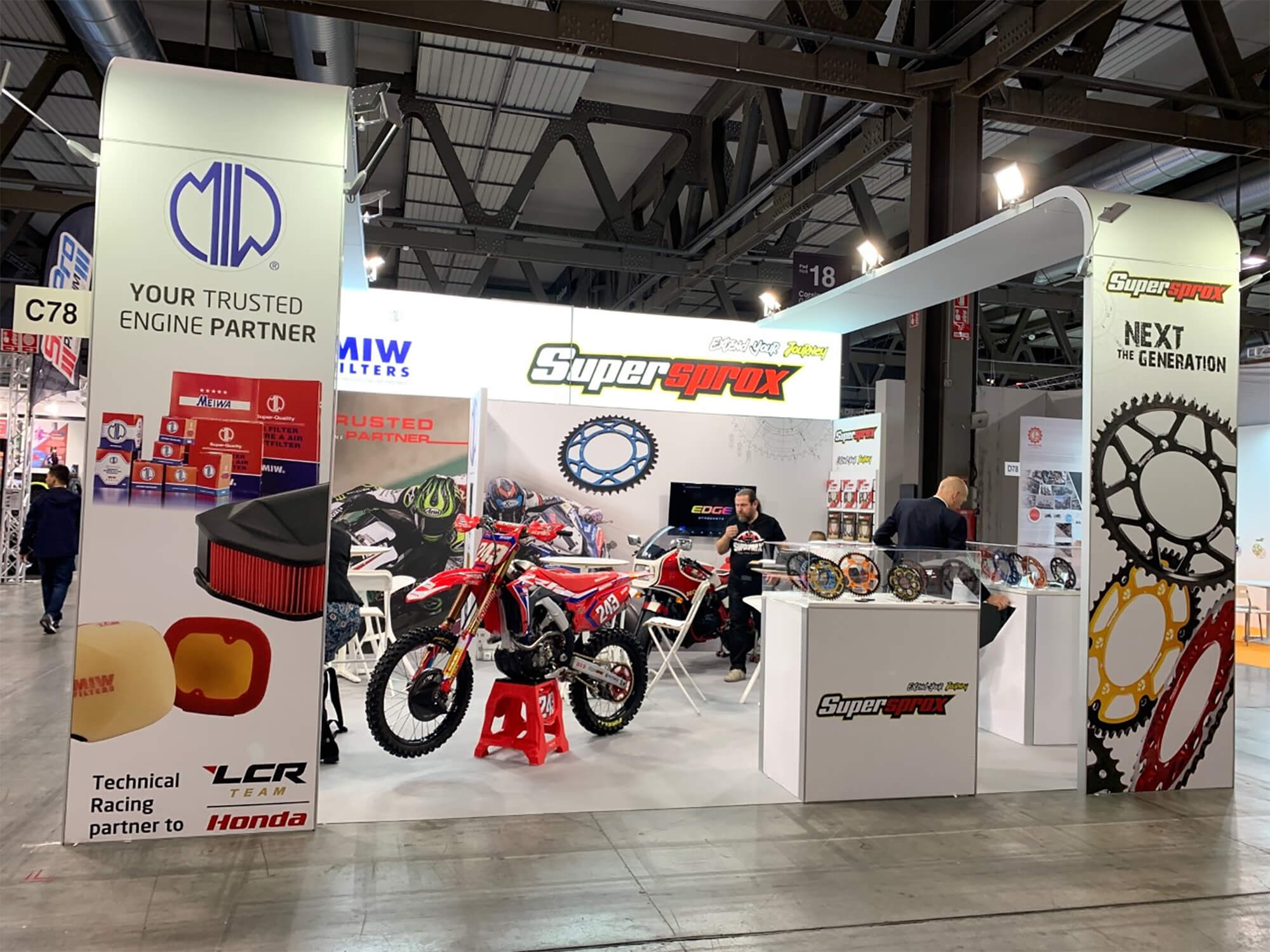 Expansion of sales in Asia of Supersprox-brand motorcycle sprockets